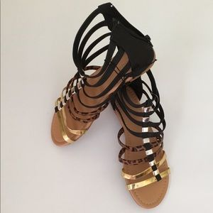 Olivia Miller Sandals with zipper.